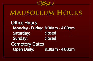 Mausoleum Hours